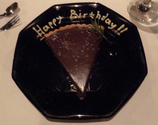 Lotus Eaters Restaurant : Birthday 'cake'
