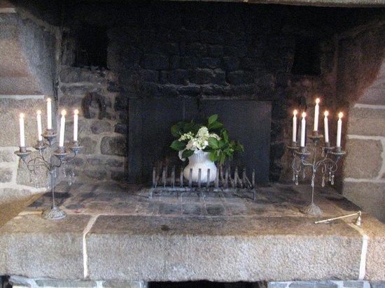 L'Angeviniere - Gites et Chambres D'Hotes: la cheminée du salon