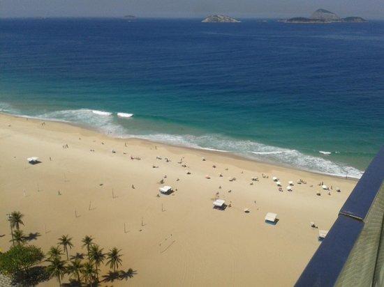 Praia Ipanema Hotel: vista da área da piscina na cobertura do hotel