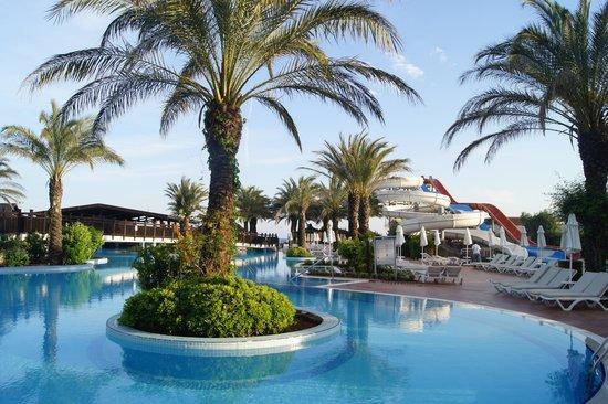 Liberty Hotels Lara : Beautiful pool area with the three fun water slides