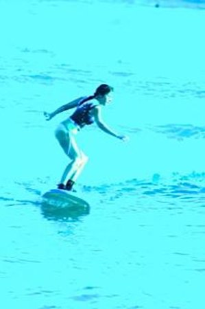 LG Surf Camp: Learning to surf... soft board