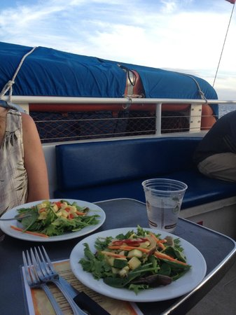 Pacific Whale Foundation: Our view from one side of our table - life rafts