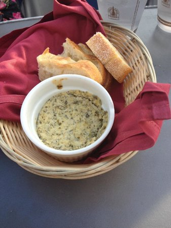 Pacific Whale Foundation: Dried artichoke dip we had to share with other party