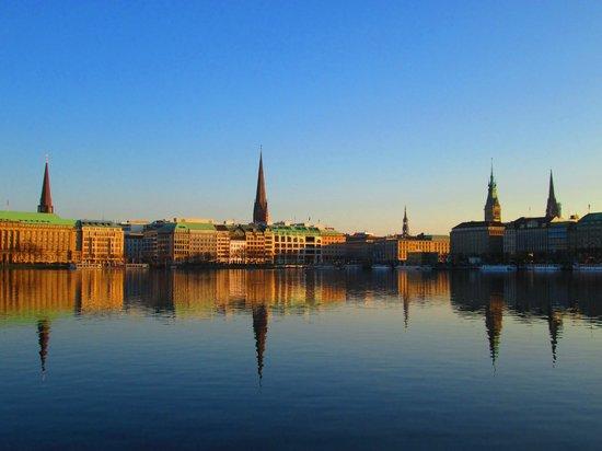 Hambourg, Allemagne : A tarde siendo..
