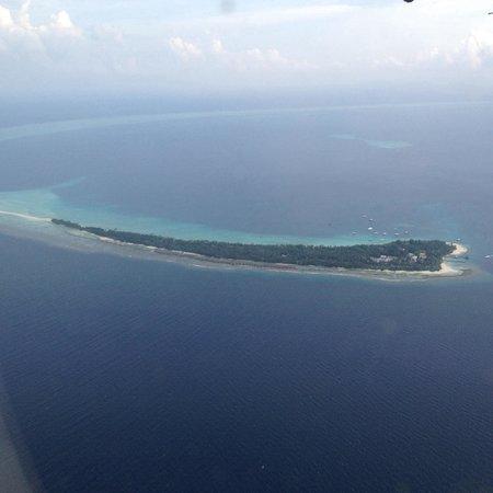 Kuramathi Island Resort: View of island departing on sea plane