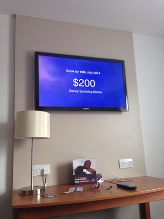Premier Inn Tamworth Central Hotel: The TV in our room