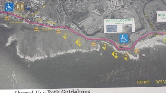 Coconut Coasters Beach Bike Rentals : part map of costal bike path