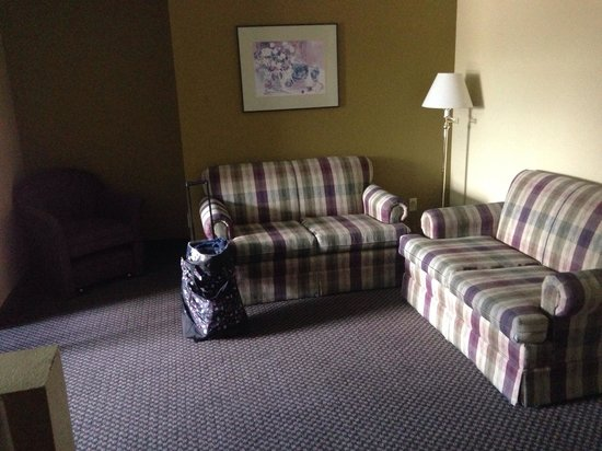 Travelodge by Wyndham Ukiah : Living space in king room