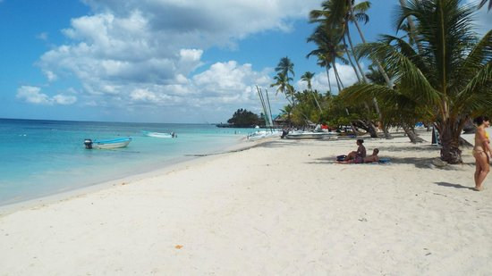 Public beach of Dominicus at Bayahibe: bayahibe