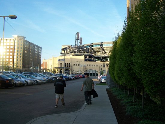 Hyatt Place Pittsburgh-North Shore: view of PNC park from back entrance of Hyatt Place