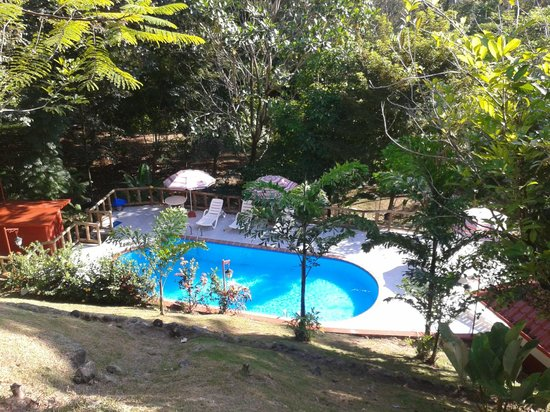 Hotel Samsara: Hermosa vista hacia la piscina desde las instalaciones del hotel