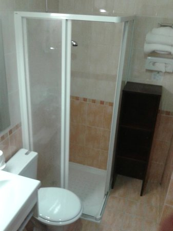 Hôtel Des Trois Gares : WC-Prós: espaçoso e limpo. Contras: não tem gancho p/ toalhas e prateleira no box p/ sabão e sha