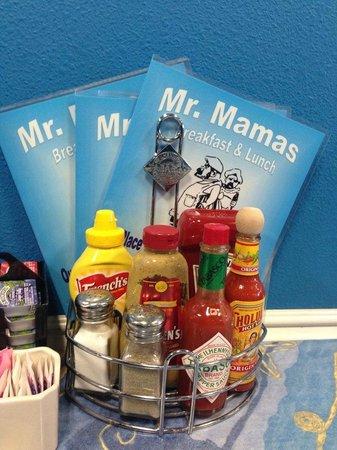 Mr. Mamas : Menus at Mr Mamas