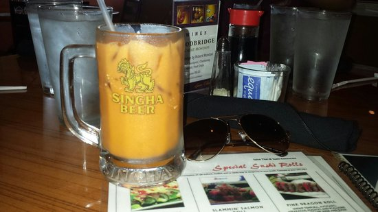 Spice Thai and Sushi Restaurant: Thai Ice Tea is very refreshing on a hot Florida day.