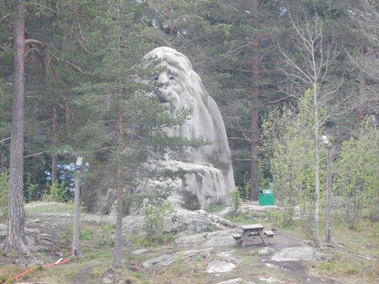 Musée du ski de Holmenkollbakken : Из лесу выглядывает тролль по имени Коллен, в честь него назван холм
