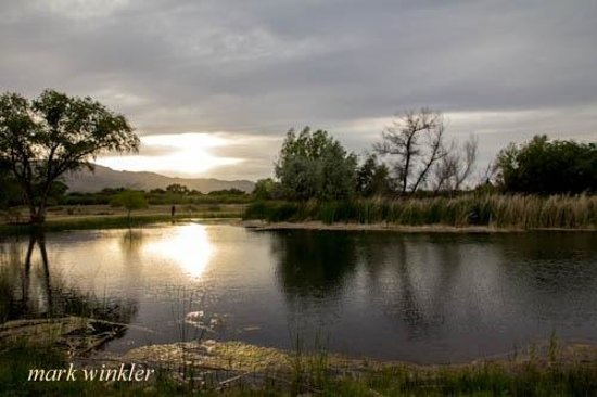 Dead Horse Ranch State Park Campground: one of the lagoons