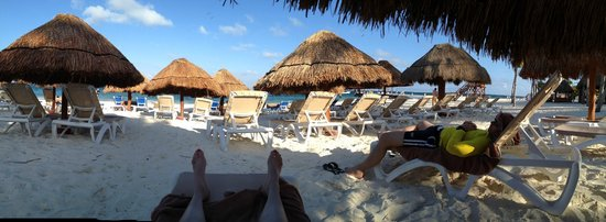 Excellence Riviera Cancun : The beach