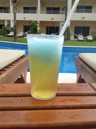 Excellence Riviera Cancun : The 'Heisenberg'- beer w/ a dollop of blue margarita on top