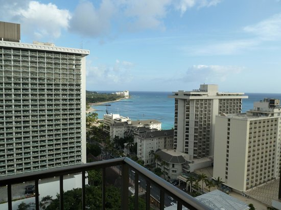 view from lanai picture of holiday inn resort waikiki. Black Bedroom Furniture Sets. Home Design Ideas