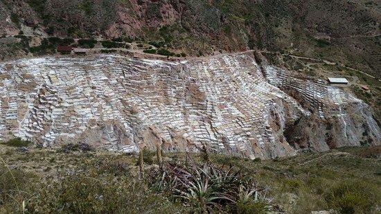 Salinas de Maras: Mina de água salgadinha a 18 graus no meu das montanhas!!! Lugar mágico!!!