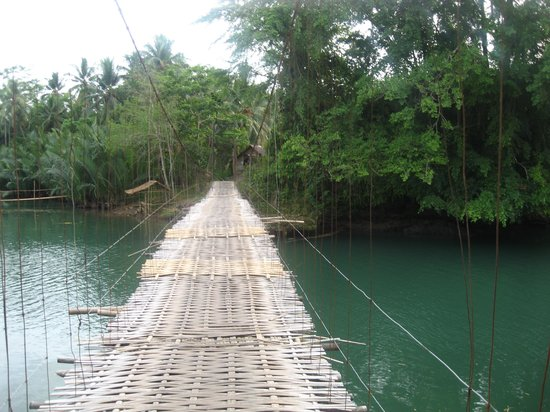 Cijulang, Indonesia: Bamboo Bridge