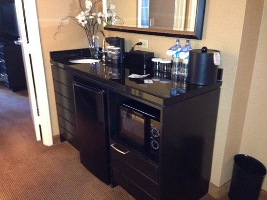Embassy Suites by Hilton Chicago Downtown: nice to have a little fridge and microwave!