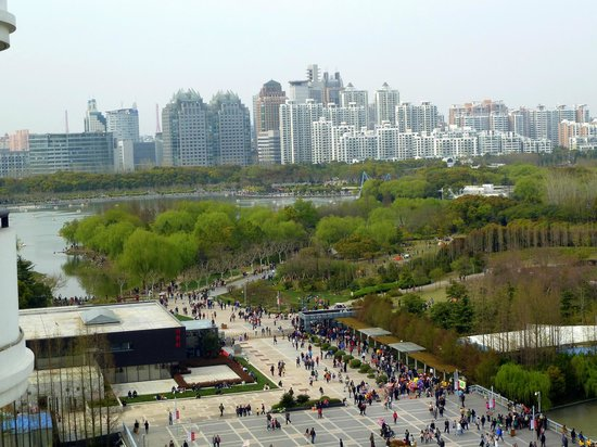 Dorsett Shanghai: view of Century Park from balcony