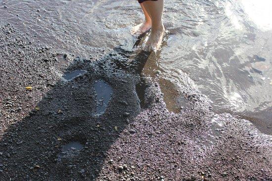 Bibi's Hideaway: black sand beach, near seminary