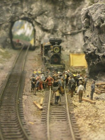 Miniature World: You can make the trains go, and it changes from day to night