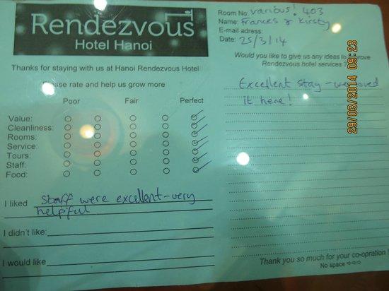 Hanoi Rendezvous Hotel: Love ^^