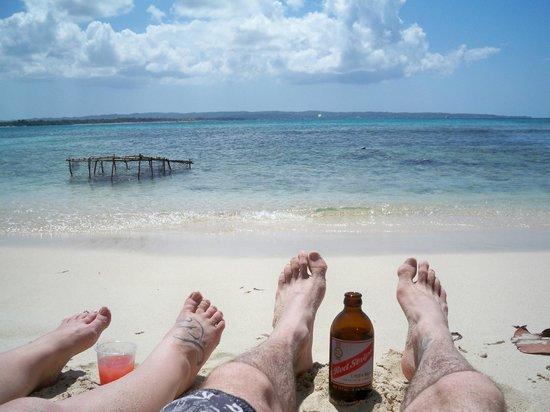 Booby Cay Island: Chillin'