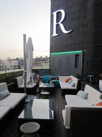 Renaissance Barcelona Hotel: on the roof