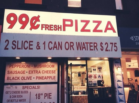 New York Budget Inn: Pizza place across the street-GREAT PIZZA