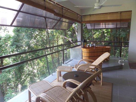Ambong Ambong: Open air balcony, dining
