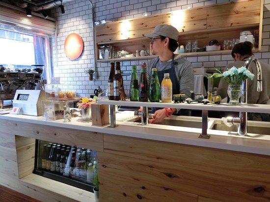 Vermillion - espresso bar & info. : staff was nice,polite & cute