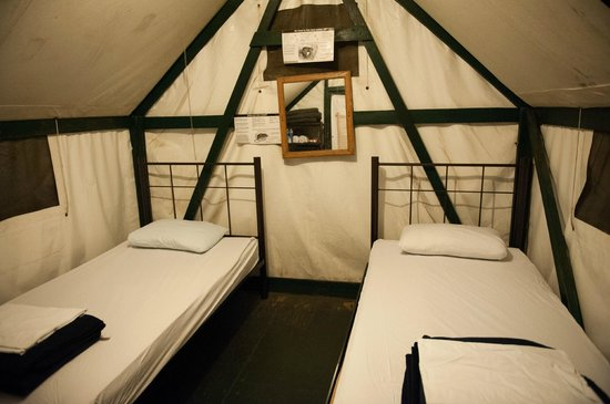 Half Dome Village Inside the Tent Cabin & Inside the Tent Cabin - Picture of Half Dome Village Yosemite ...