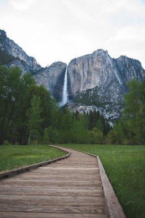 Half Dome Village: Upper Yosemite Falls