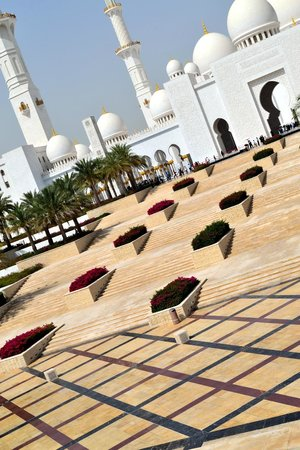 Sheikh Zayed Mosque: Rooftop view