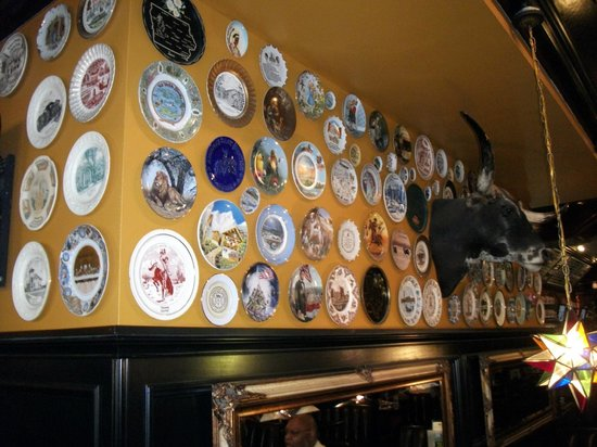 Flying Saucer: Memorabilia on the wall