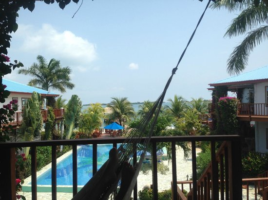 Chabil Mar: View of the grounds from the hammock