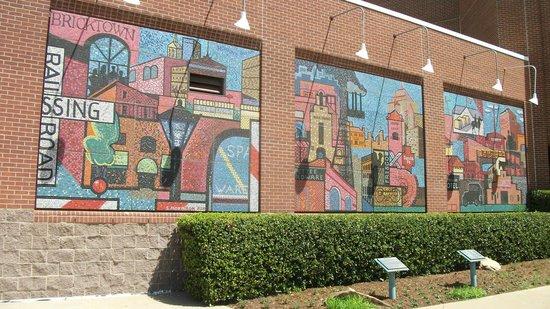 Chickasaw Bricktown Ballpark: One of the walls