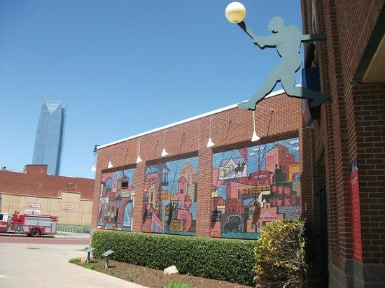 Chickasaw Bricktown Ballpark: Other wall