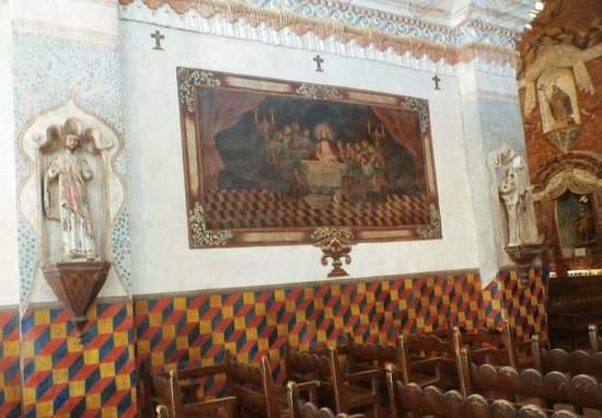 Mission San Xavier del Bac : Colorful side wall.