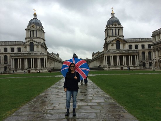 Old Royal Naval College: wet weather did not dampen our enthusiasm