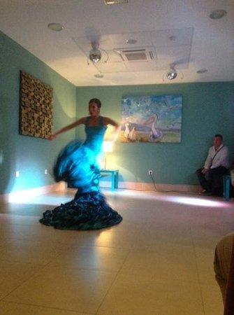 Hotel Mainare Playa Fuengirola: flamenco show on Friday night.