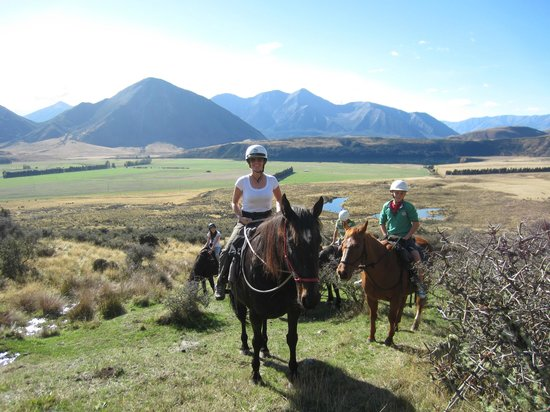 """Grasmere Lodge: me on """"my"""" horse - LOVED her!"""