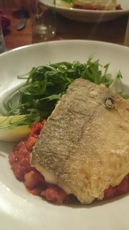 The Mote: Hake on a chorizo and chickpea cassoulet