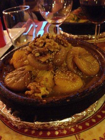 La Medina : Tajine de Poulet, figues et Miel