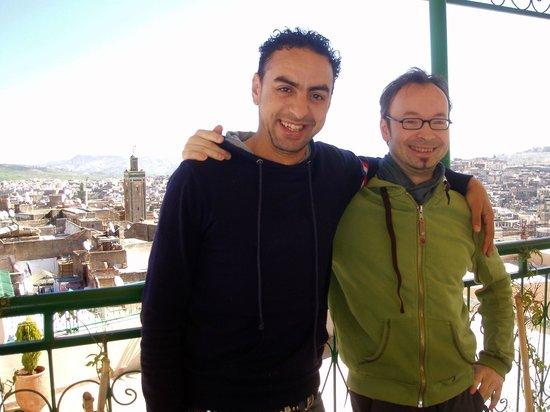 Dar El Ouedghiri: On the terrass with Adil