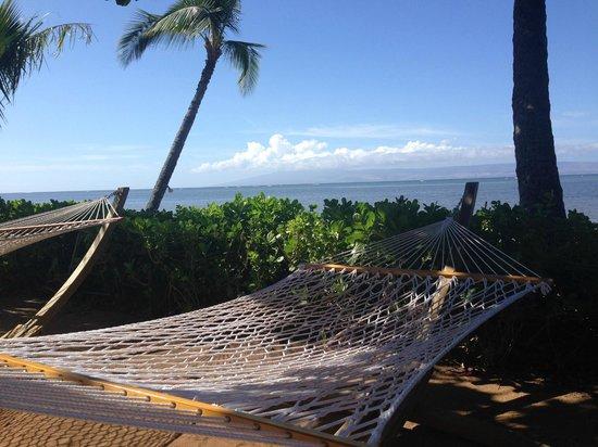 Hotel Molokai: relaxing hammocks